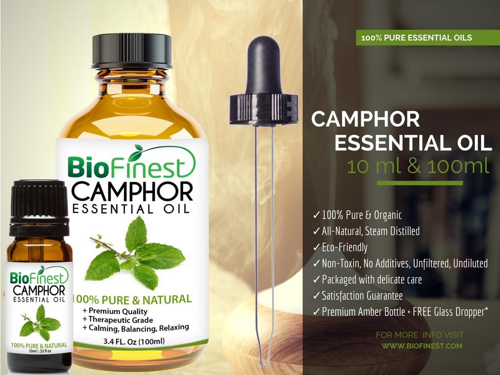 Camphor Essential Oil - 100% Pure Therapeutic Grade - Best