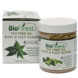 Tea Tree Oil Body & Foot Scrub: with Dead Sea Salt, Jojoba Oil, Essential Oils - Best for Athlete Foot/ Fungus/ Acne/ Warts