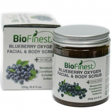 Biofinest Blueberry Oxygen Facial Scrub - with Aloe Vera, Amino Acids, Vitamin C, Essential Oils