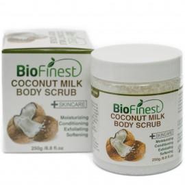 Coconut Milk Body Scrub - with Dead Sea Salt, Almond Oil, Vitamin E- Best For Dry Skin/ Cellulite/ Stretch Marks/ Eczema / Acne
