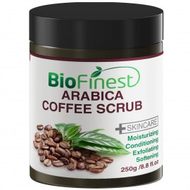 Arabica Coffee Scrub: Best For Varicose Veins, Cellulite, Stretch Marks, Eczema & Acne - Moisturizer and Exfoliator