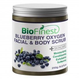 Blueberry Oxygen Facial Scrub - with Aloe Vera, Amino Acids, Vitamin C, Essential Oils - Best Antioxidants For Anti-Aging