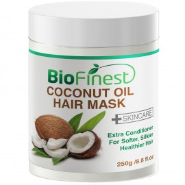 Coconut Oil Hair Mask - with 100% Organic Shea Butter, Rosehip, Vitamin E- Deep Conditioner for Dry/ Damaged/ Color Treated Hair
