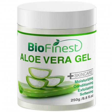 Aloe Vera Gel - Absorb Fast/ No Sticky Residue - Best Moisturizer For Sun Burn/ Eczema/ Insect Bites/ Dry Damaged Aging skin