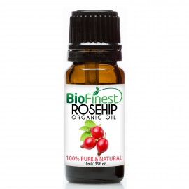 Rosehip Organic Oil - 100% Pure Cold-Pressed-  Premium Quality - BEST Moisturizer for Face, Nails, Dry Hair & Skin
