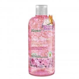 Kustie Cherry Blossom Shower Gel - Handpicked Natural Flower Petals - Essential Oil - Lightening and Brightening