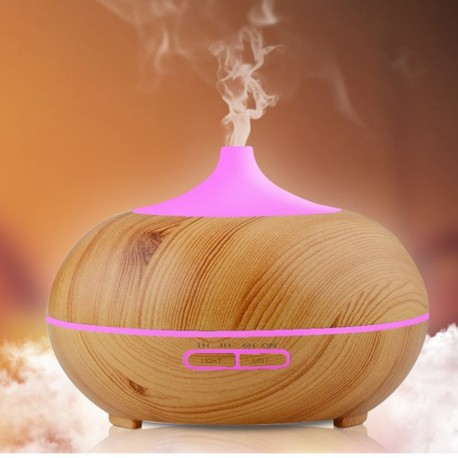 D4 (300ml) Ultrasonic Aroma Diffuser/ Air Humidifier/ Purifier/ 7-Color LED Light, 4-Timer, 10 Hours Mist, Auto Off, Super Quiet