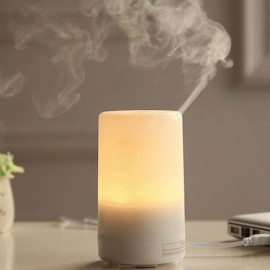U1 (65ml) USB Ultrasonic Aroma Diffuser/ Air Humidifier/USB/ 7-Color LED Light, 4-Timer, 3 Hours Mist, Auto Off, Super Quiet