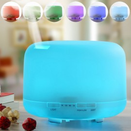 F1 (500ml) MUJI Ultrasonic Aroma Diffuser/ Air Humidifier/ Purifier/ 7-Color LED, 4-Timer, 10 Hours Mist, Auto Off, Super Quiet