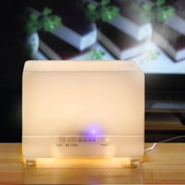 I1 (700ml) MUJI Ultrasonic Aroma Diffuser/ Air Humidifier/ 7-Color LED Light, 4-Timer, 10 Hours Mist, Auto Off, Super Quiet