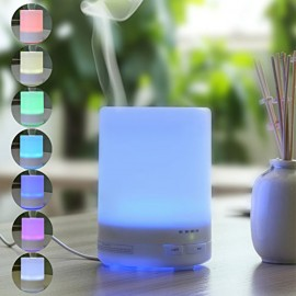 D3 (300ml) MUJI Ultrasonic Aroma Diffuser/ Air Humidifier/ Purifier/ 7-Color LED, 4-Timer, 9 Hours Mist, Auto Off, Super Quiet