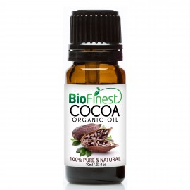 Cocoa Organic Oil - 100% Pure Cold-Pressed -  Premium Quality - Rich in Vitamin A/ C/ Magnesium - Antioxidant & Anti-aging