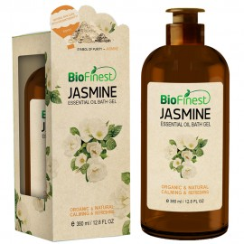 Jasmine Essentil Oil Shower Gel - Premium Grade - Best For Deep Cleansing and Dry Skins - Refreshing and Moisturizing (380ml)