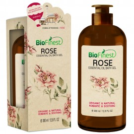 Rose Essentil Oil Shower Gel - Premium Grade - Natural Romantic Scent - Refreshing and Moisturizing - For All Skin (380ml)