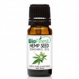 Hemp Seed Organic Oil - 100% Pure Cold-Pressed -  Premium Quality - Rich in Omega-3 - Nourish Skin/Hair - Ease PMS Pain