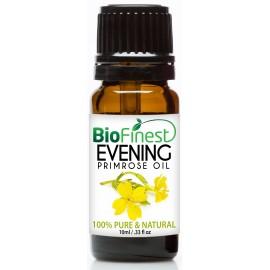 Evening Primrose Organic Oil - 100% Pure Cold-Pressed -  Premium Quality - Rich in Omega-3 - Nourish Skin/Hair - Ease PMS Pain