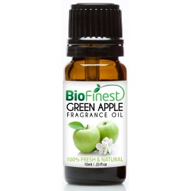 Green Apple Fragrance Oil - 100% Fresh & Natural - Premium Grade - Natural Home Scent - Tropical Fruit - Aromatherapy - Relaxing