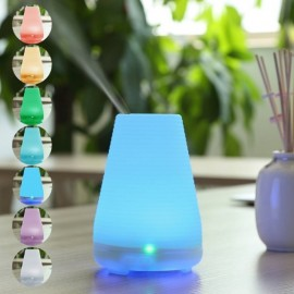 A1 (100ml) Ultrasonic Aroma Diffuser/ Air Humidifier/ Purifier/ 7-Color LED Light, 4 Hours Mist, Auto Off, Super Quiet
