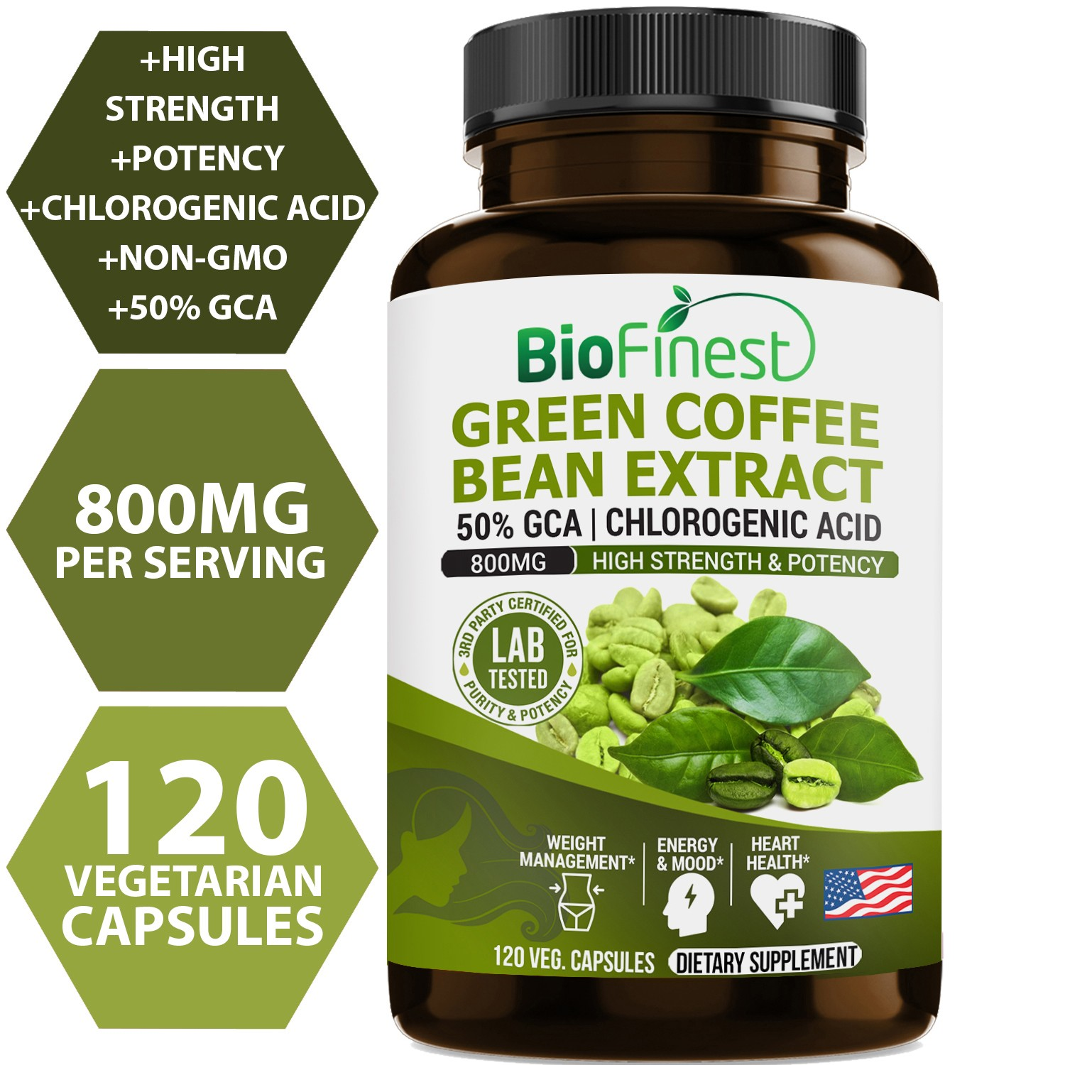 Green Coffee Bean Extract 120 Capsules