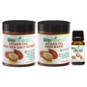 Argan Body Scrub & Hair Repair Gift Set