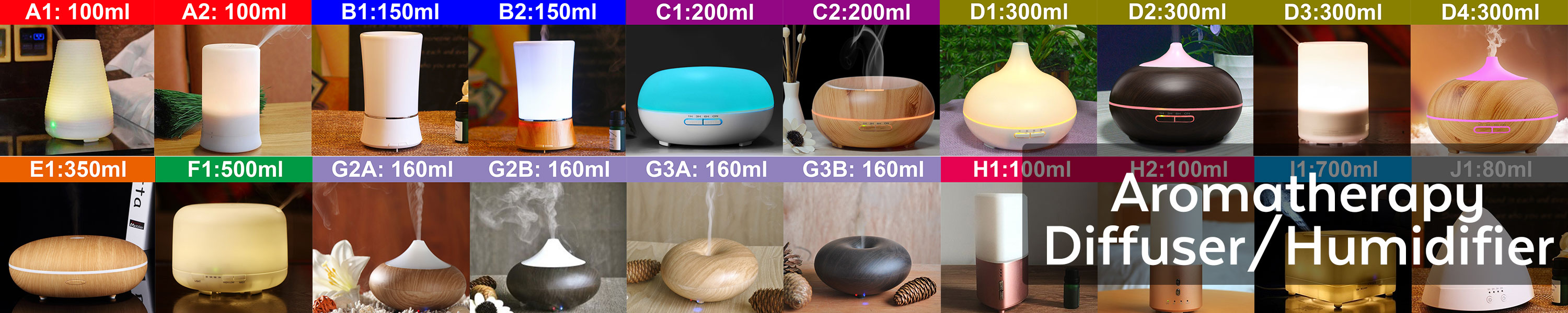 Aromatherapy Diffuser Humidifier Air Purifier Ionizer