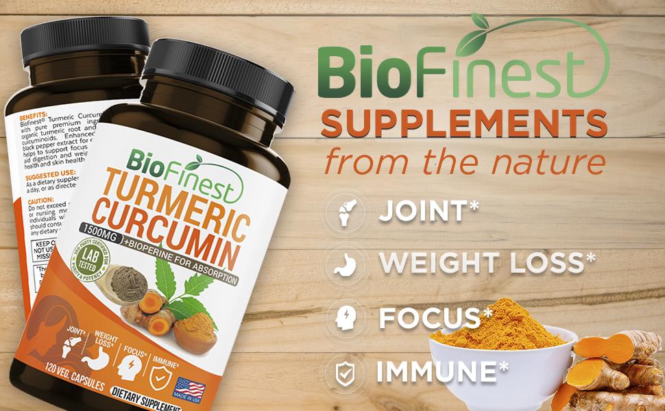 Turmeric Curcumin - 1500mg with Bioperine Black Pepper