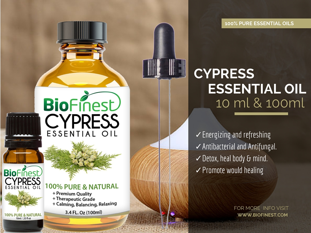 Cypress Essential Oil - 100% Pure Undiluted - Therapeutic Grade ...