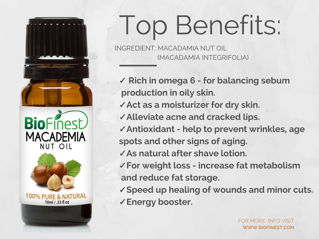 Macadamia oil benefits