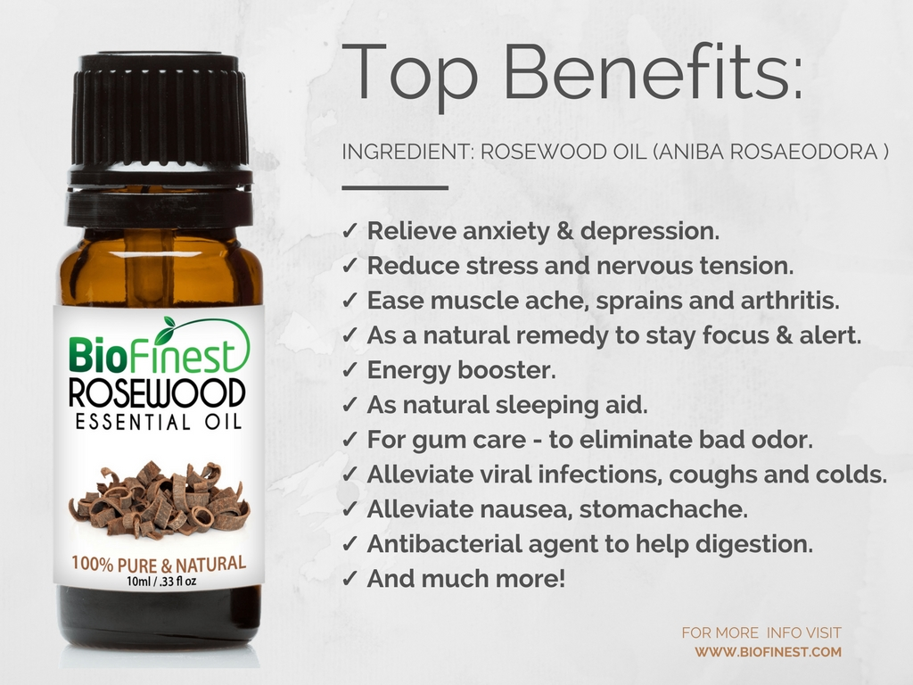 Biofinest 100% Pure Rosewood Essential Oil - Best For ...