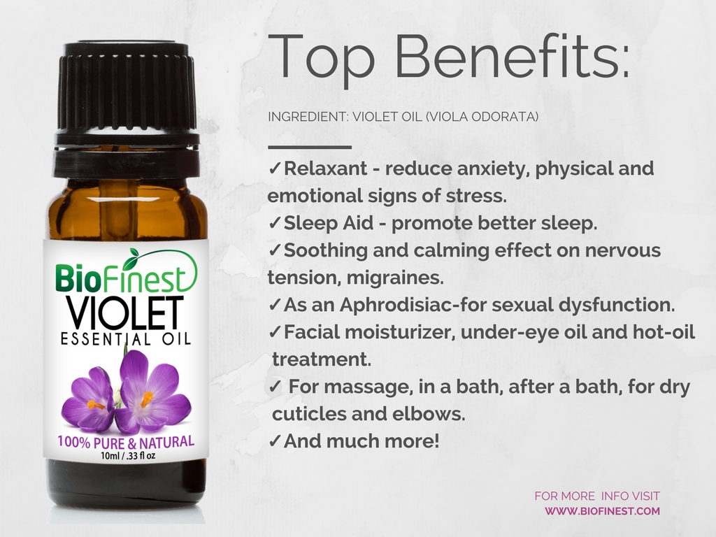 Biofinest 100 Pure Violet Essential Oil Best For