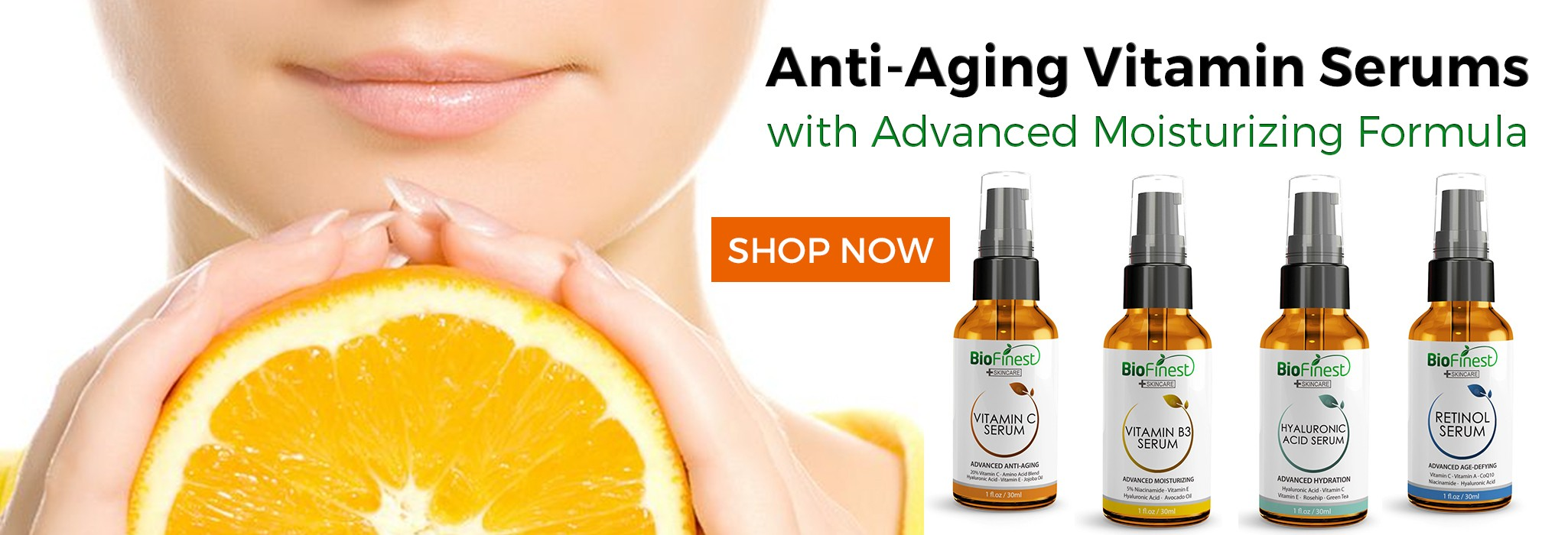 Biofinest Anti Ageing Vitamin Serums - with Vitamin C, Retinol, Hyaluronic Acid and Essential Oil Essense