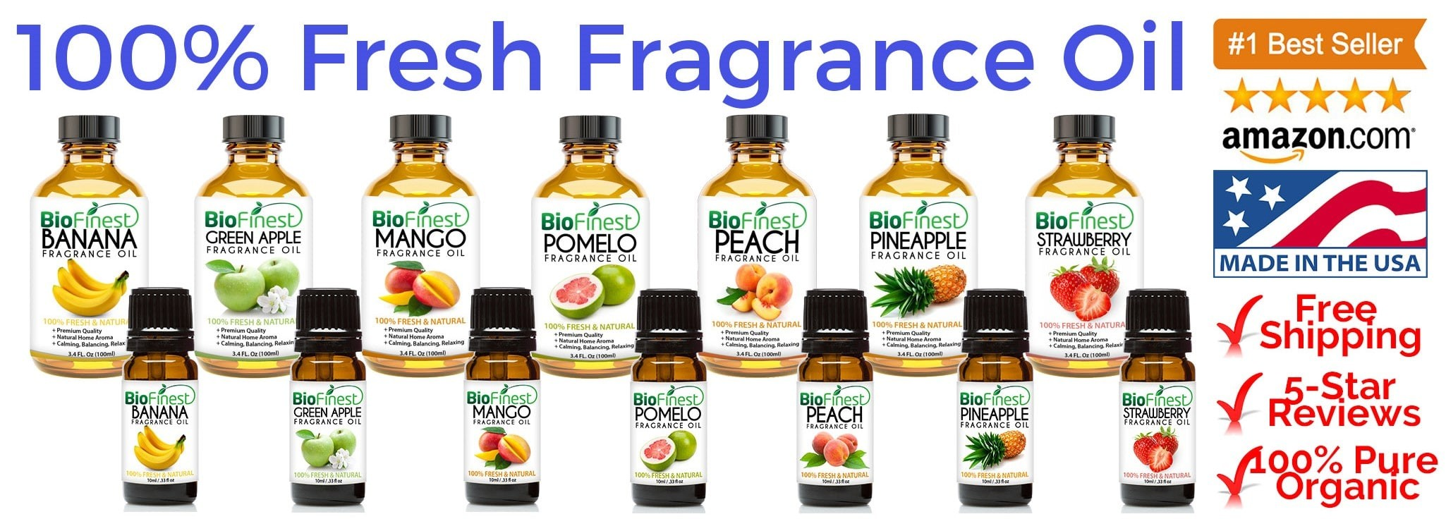 Biofinest 100% Fresh Fragrance Oil (Available in 10ml and 100ml)