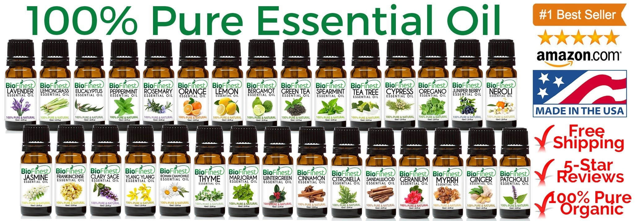 Biofinest 100% Pure Essential Oil (Available in 10ml and 100ml)