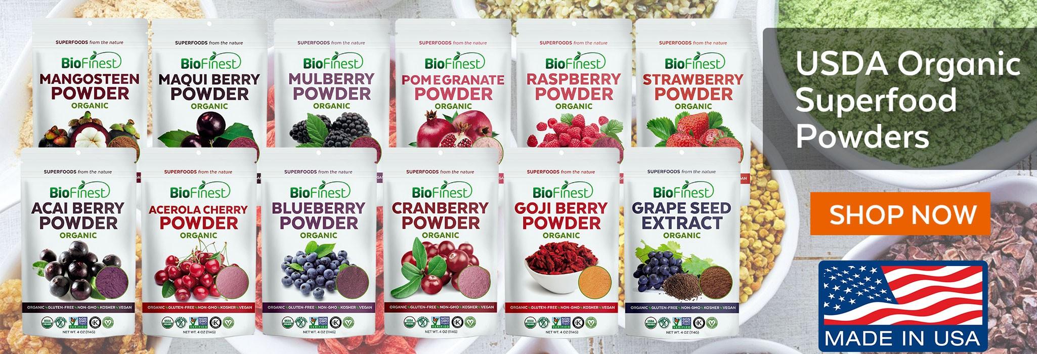Biofinest 100% Organic Superfood Powders