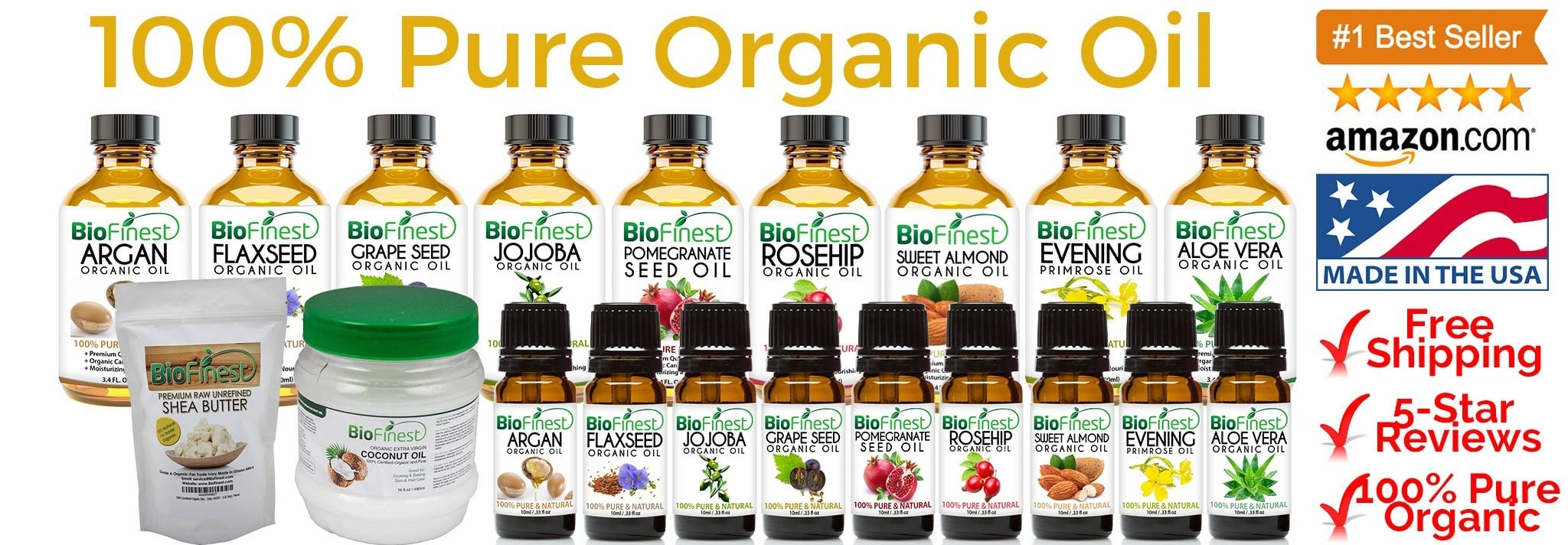 Biofinest 100% Pure Organic Oil (Available in 10ml and 100ml)